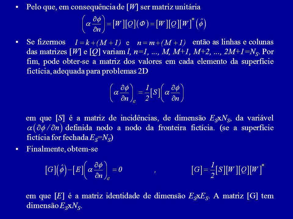 Pelo que, em consequência de [W] ser matriz unitária